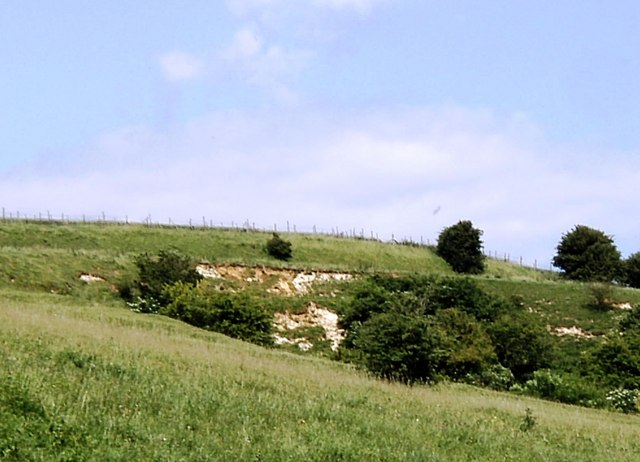 Part of disused quarry, Charing Hill