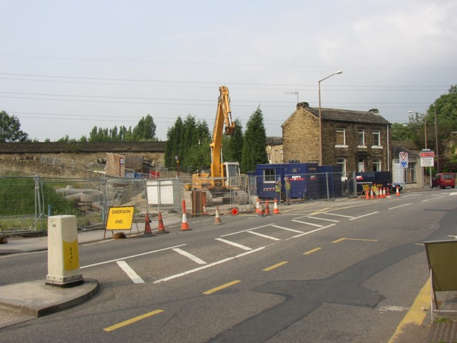 Road Works at the bottom end of Thornhill Road, Rastrick