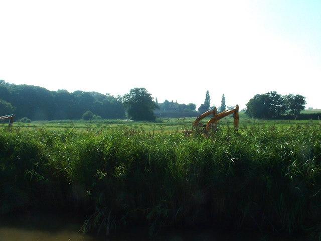 Drainage work near Hardley Hall