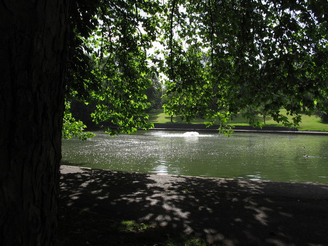 Duck pond in St. George Park