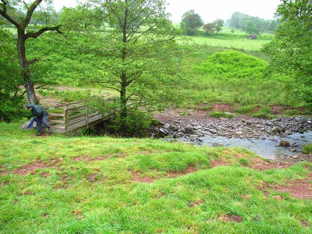 Footbridge and ford over the Afon Tarell