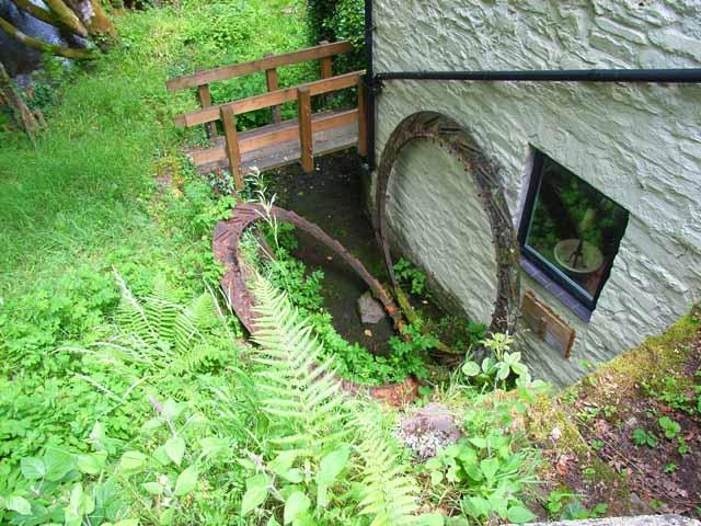 The old waterwheel at Felin Fach