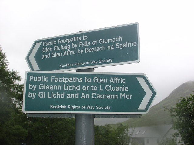 Signpost for Rights of Way