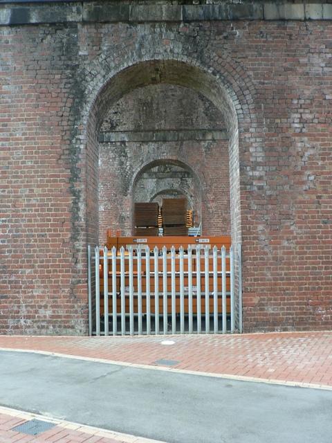 Under the railway viaduct, Trinity Business Park. Wakefield