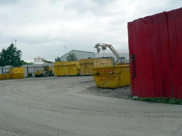 Skip hire yard, New Brunswick St, Wakefield