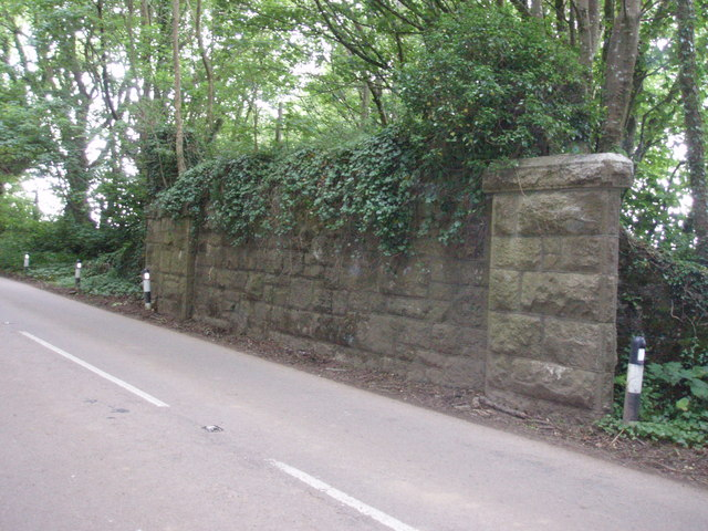 Remains of old railway bridge
