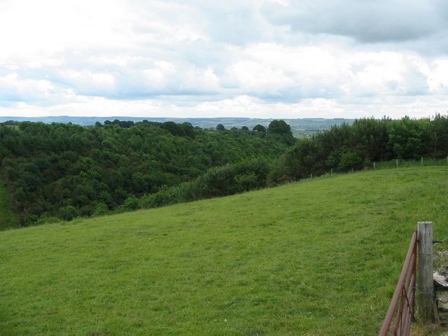 View to the Yorkshire Wolds looking over Kirk Dale