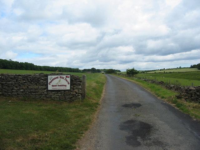 Lane running up to Pheasant Hill Farm above Kirk Dale