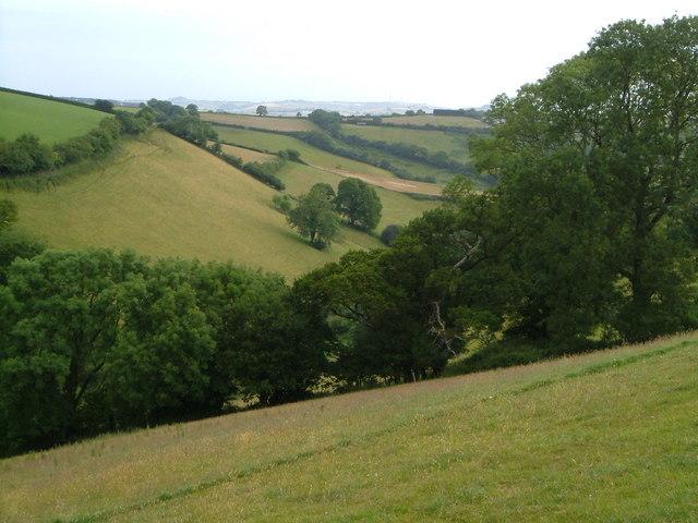 Valley below Tideford
