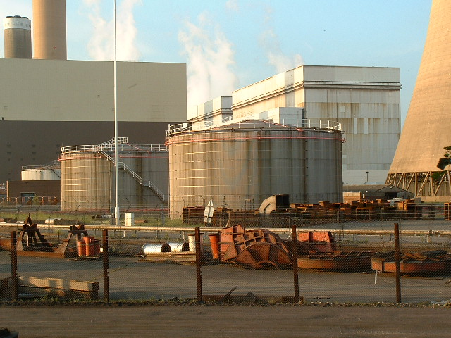 Drax Power Station Oil Storage Tanks