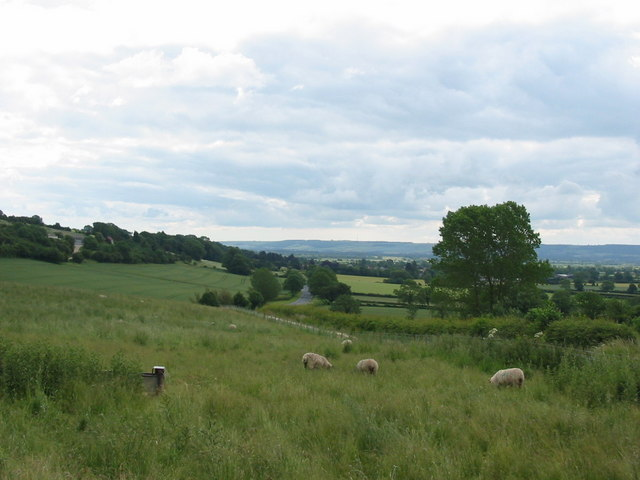 Looking over the A170 towards Snainton
