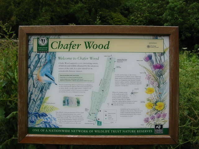 Information board at Chafer Wood