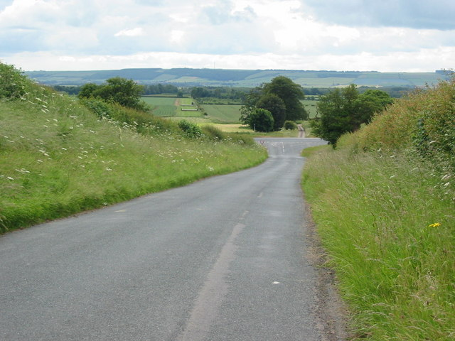 View across Charm Park to Staxton Wold