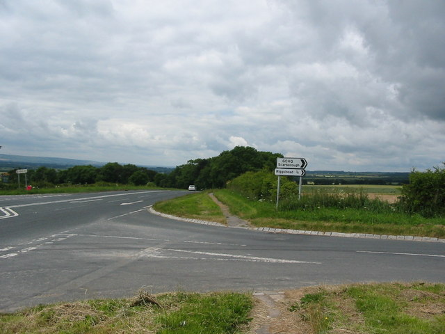 Road Junction on the A170 to Riggs Head