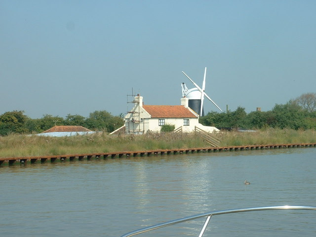 Seven Mile House and Polkey's drainage mill