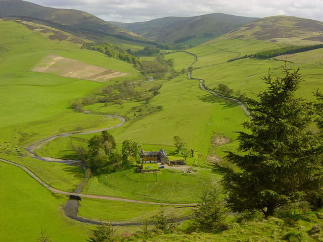 Snaip Farm and the Culter Water Valley from Shaw Hill