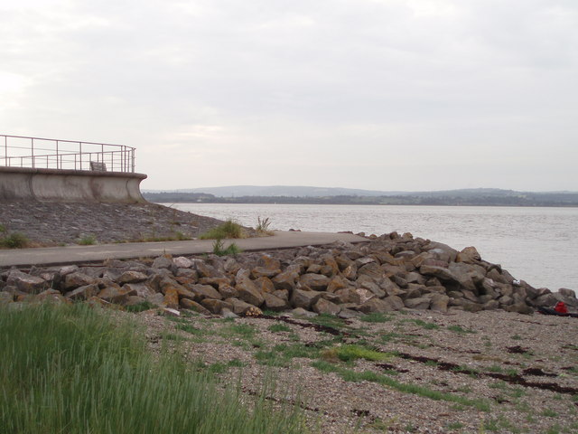 Sea defences at New Passage