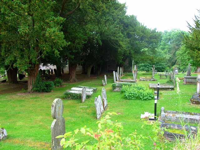 Cantref churchyard