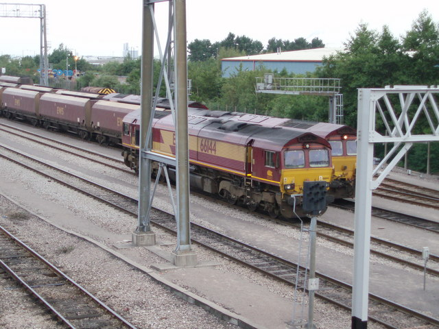 Freight trains at St Andrews Road station