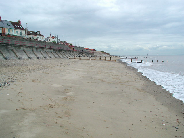 Deserted beach at Withernsea
