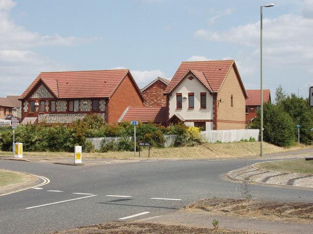 New houses near Blackbird Leys, Oxford