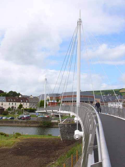 New footbridge at Carmarthen