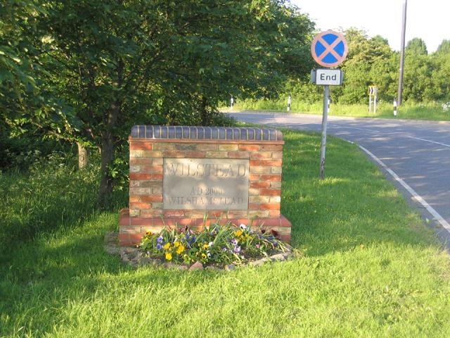 Village sign, Wilstead, Beds