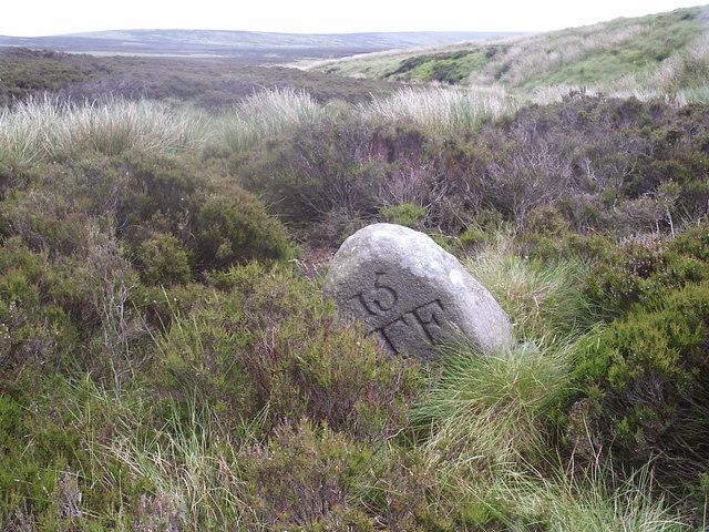 Boundary Stone looking down Hole Syke