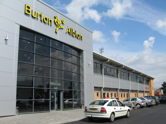 Burton Albion FC, Pirelli Stadium, Burton upon Trent, Staffordshire