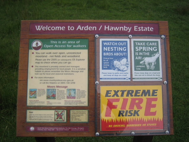 Information board at Moorgate footpath/road junction