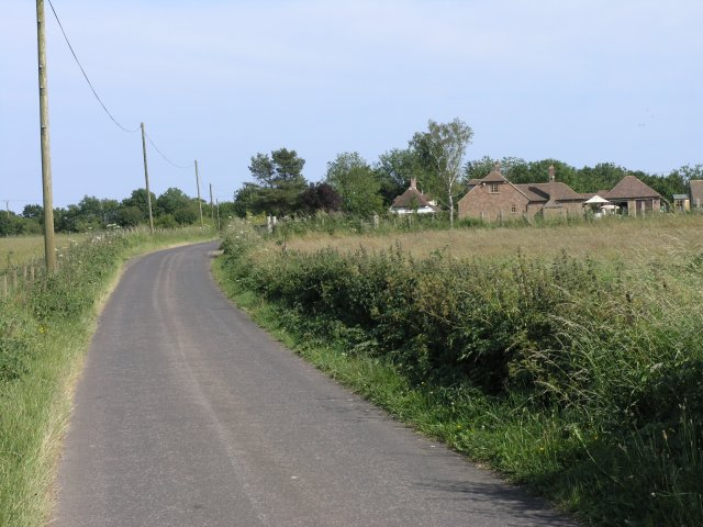 Narrow Country Road near Exted