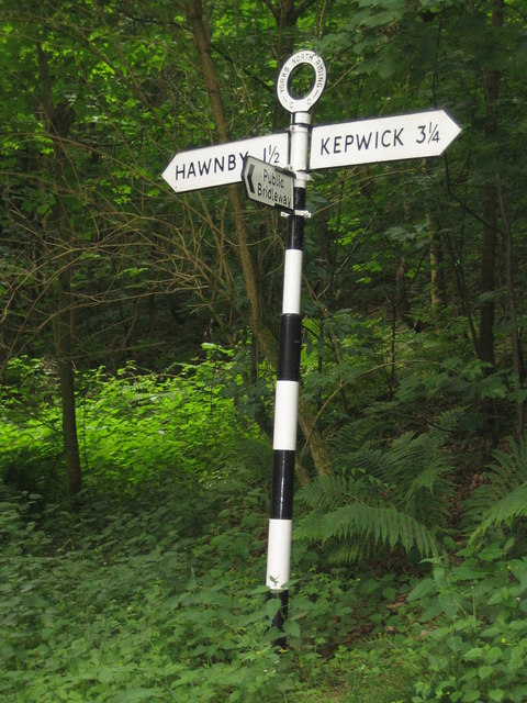 Well restored traditional North Yorkshire road sign