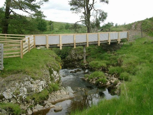 New bridge above Snar farm