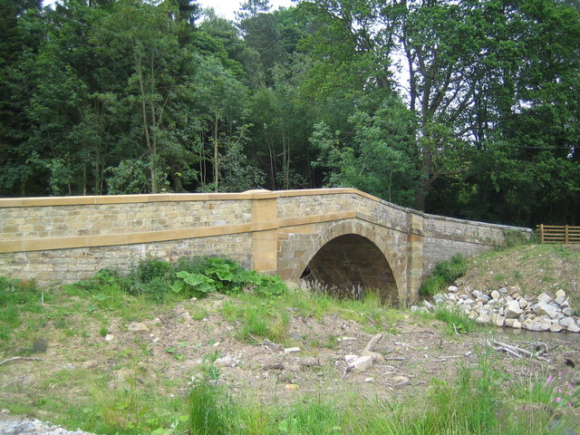 Church Bridge at Hawnby after the rebuild