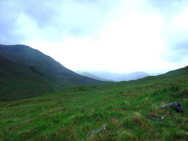 Fionngleann on a gloomy day
