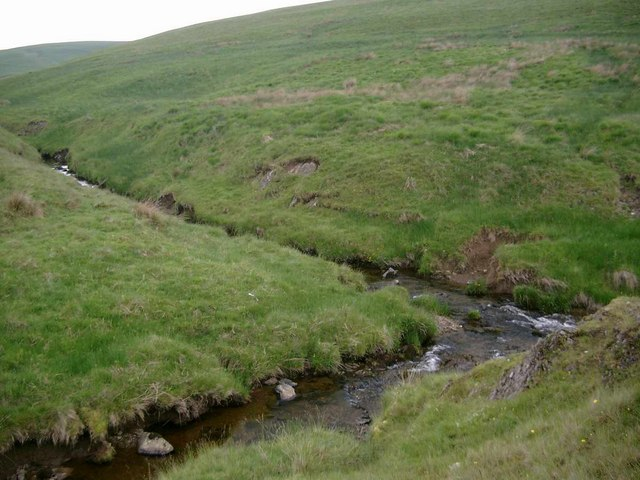 Confluence of Snar Water and Glenkip Burn
