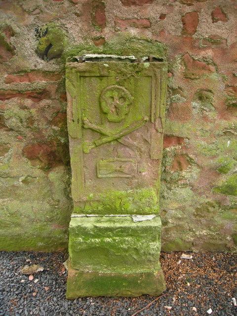 Gravestone at Greenlaw Church