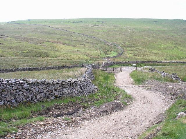 Junction at Arten Gill Moss