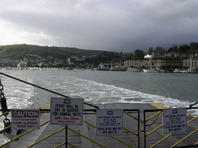 Dartmouth from aboard Higher Ferry.