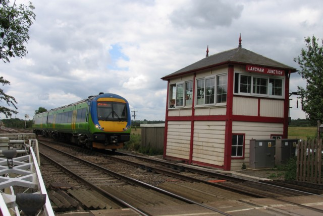 Train at Langham Junction