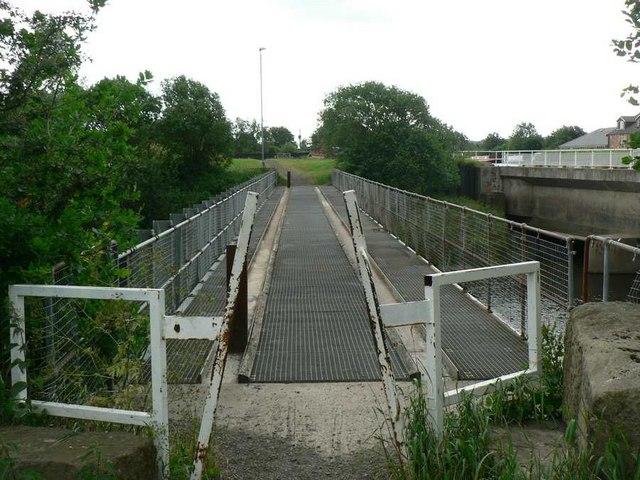 Footbridge over River Calder, Stanley Ferry
