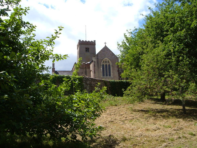 St Mary and St Gabriel's church, Stoke Gabriel, from the Church Orchard