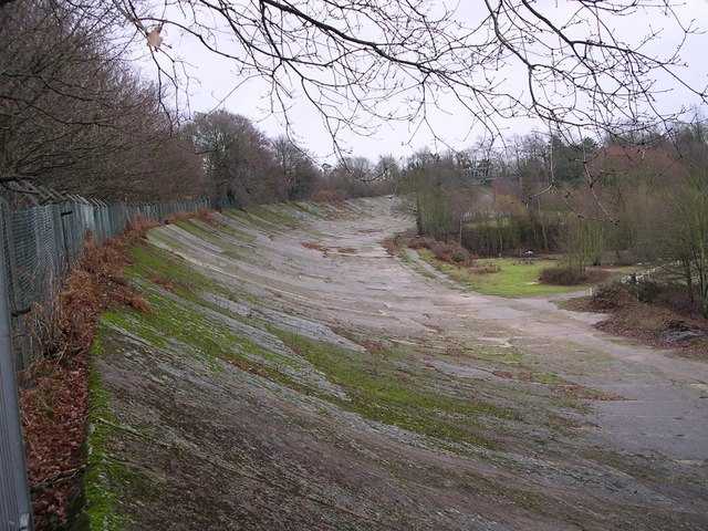 Brooklands motor racing track.