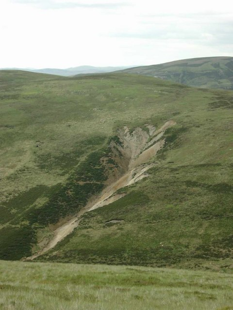 Cleugh or scar in Glenkip