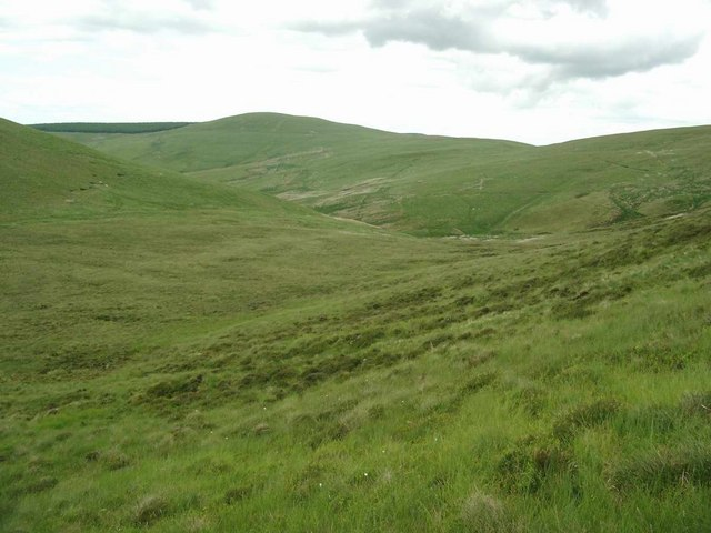 Bealach to the south of Rake Law