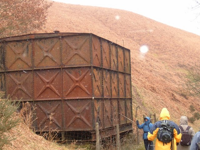 Derelict water tank on Clwydian Way
