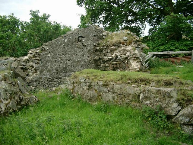 Part of the ruined Bastle House at Glendorch