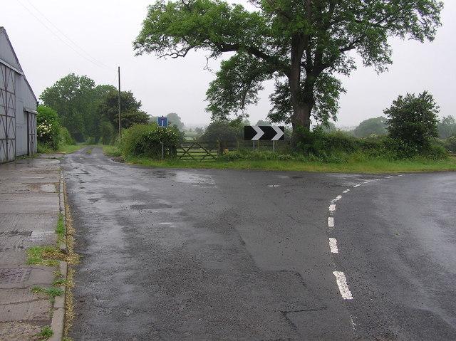 Snotterton Lane : Moor Lane (B6279)