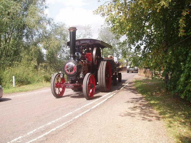 Traction engine in Blunham