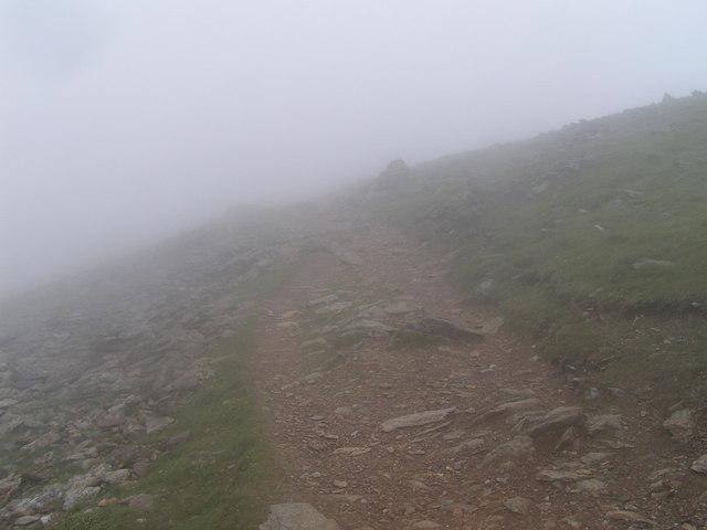 Rhyd-Ddu path, Llechog